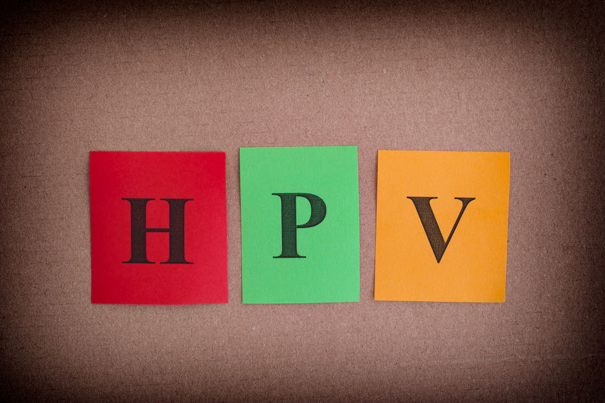 HPV letters. Sexually transmitted infection and disease.