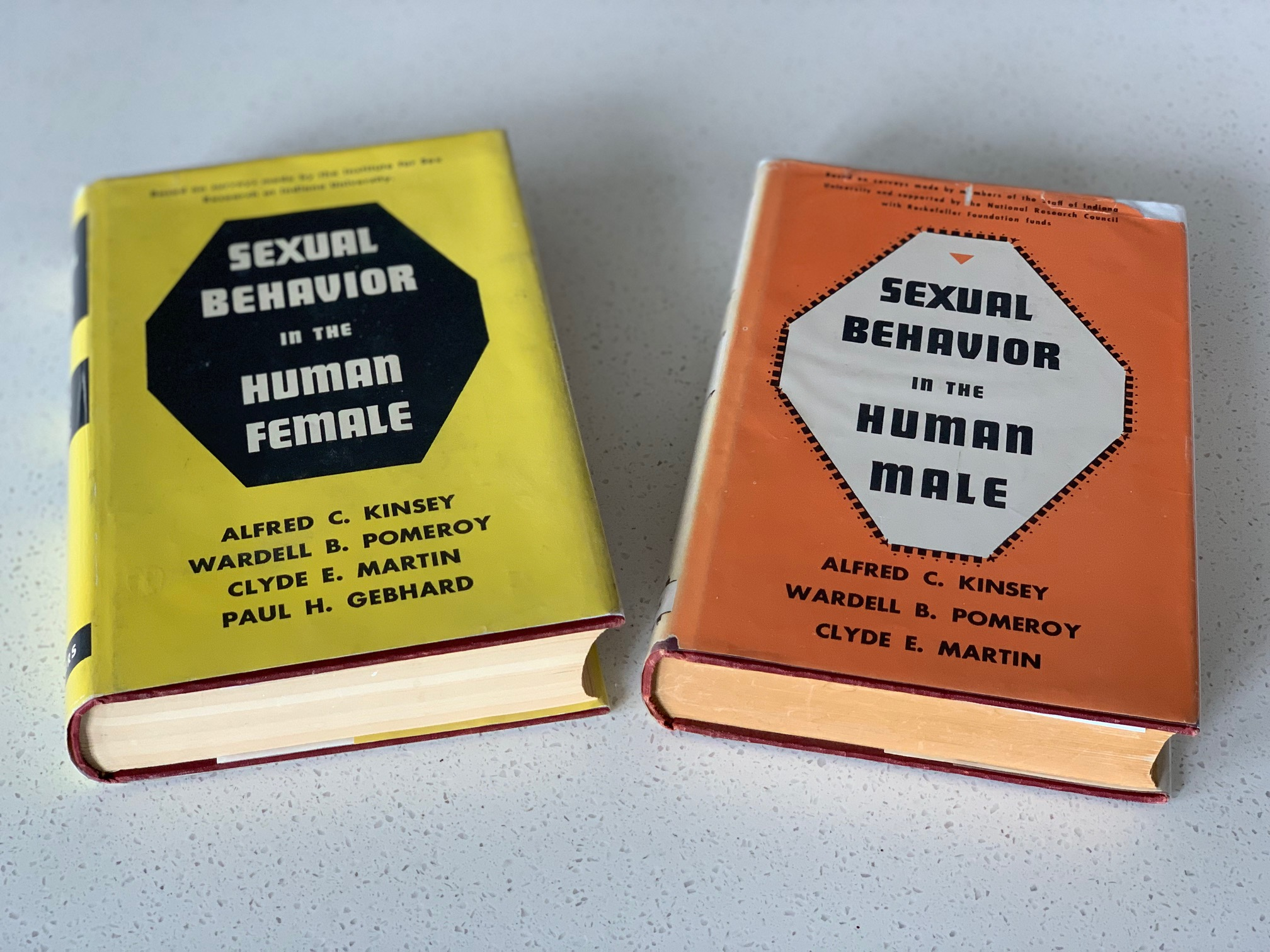 Alfred Kinsey's classic books on human sexuality. Sexual Behavior in the Human Male. Sexual Behavior in the Human Female.