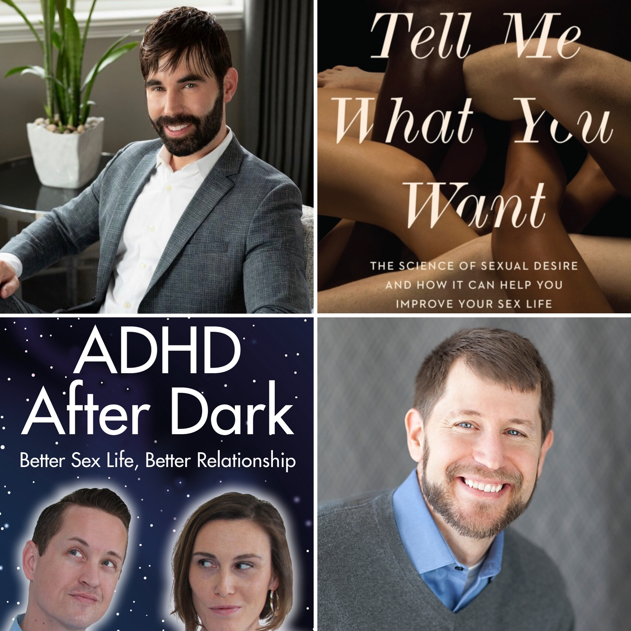 Sex and Psychology podcast. Justin Lehmiller interviews Ari Tuckman about how ADHD affects people's sex lives. ADHD After Dark book.