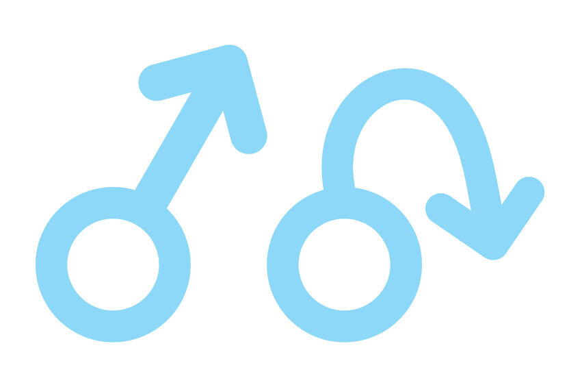 Male symbols. Erect and limp.