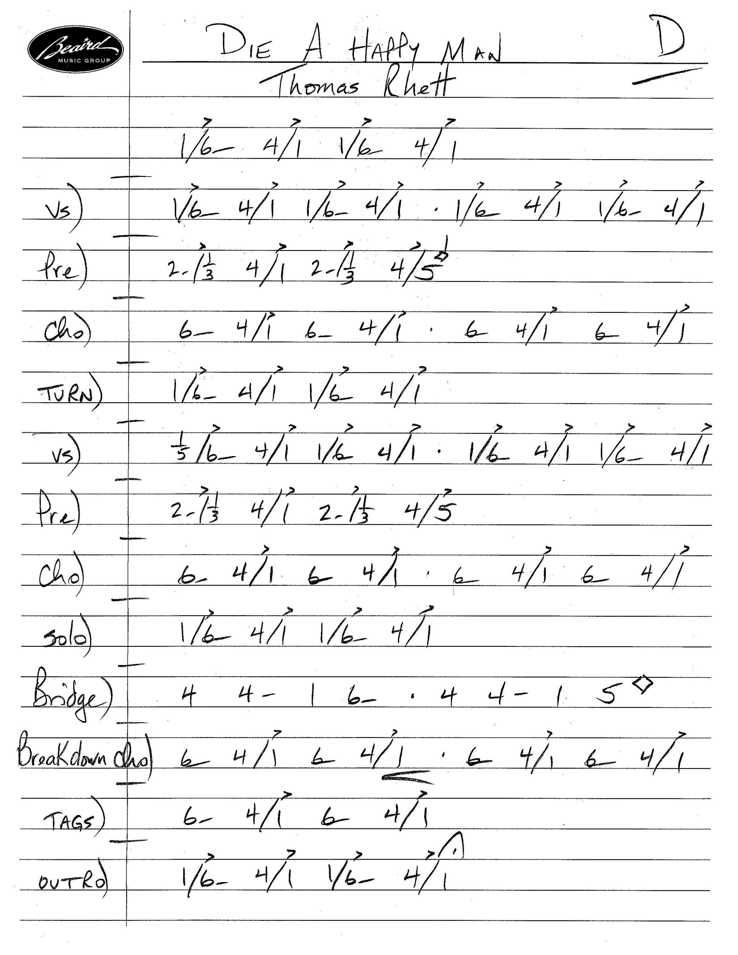 Nashville Number System Chart