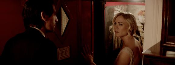 Yvonne Strahovski as Caroline Crowley.  Porter: Does the invitation still stand?