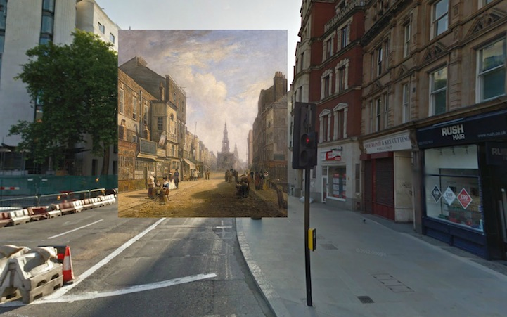 The Strand Looking East from Exeter Exchange (1822) by Artist Unknown