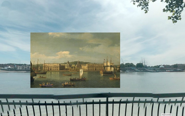A View of Greenwich from the River (1750-2) by Canaletto