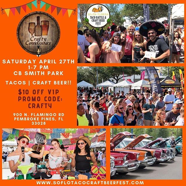 Super excited for next weekend! @soflotacobattlecraftbeerfest catch us out there pouring you the perfect beer to pair with those tacos!! #craftbeer #beerfest #tacos