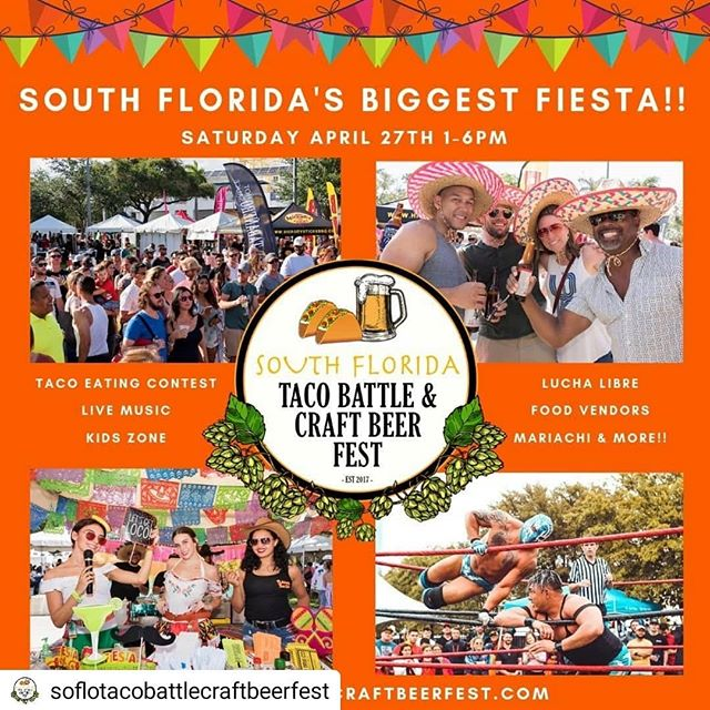 Good morning and happy Friday#soflo!!! We've got a contest for you!!! WIN 2 FREE VIP TICKETS  @soflotacobattlecraftbeerfest this Saturday at #cbsmithpark #pembrokepines!  Contest Details: 1) Follow @crafty_connoisseurs 2) Reply in the comments your favorite taco spot in #SouthFlorida!  Here at Crafty, we are some serious taco connoisseurs so you better come with some heat! I will direct message the winner by 1pm! Let the taco battle begin!!!