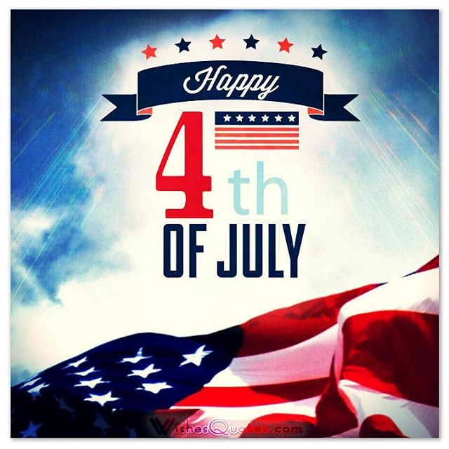 Happy #4thofJuly!!! Have a great day and everyone be safe!