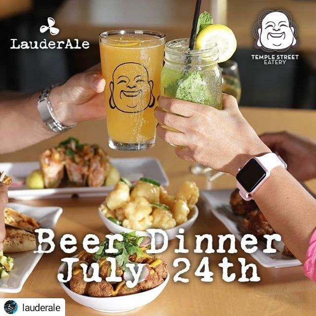 Going down next week!!! 🤤  #Repost @lauderale • • • • • Join us this July 24 8-11pm for an awesome Beer Dinner at Temple Street Eatery!⠀ They will be serving up a 4 course dinner paired with amazing beer 💁 at $50+tax per person! Call 754-701-0976 or sign up through EventBrite!⠀ ⠀ We will also be out there Thursday 7.11 for a LauderAle Happy Hour 🍻 so come say hi to Janae, get a beer sample, and reserve your spot all at one time!