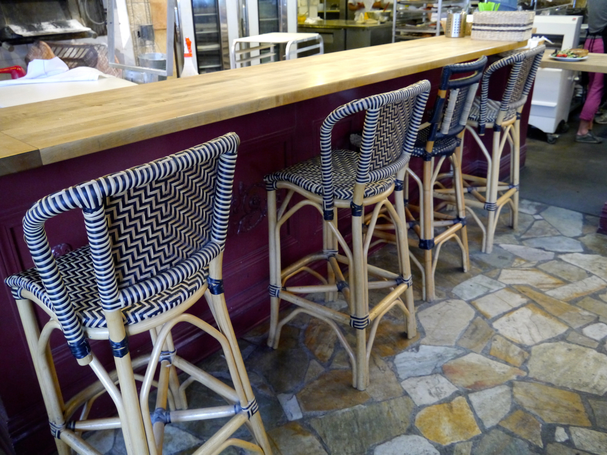 Classic French bistro stools