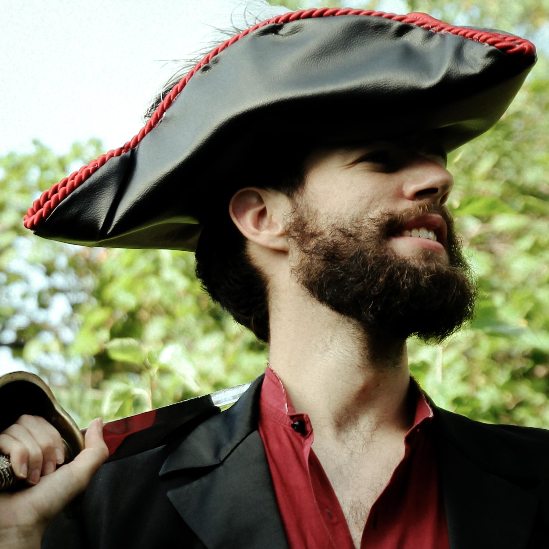 Black Ann  director Benjamin Yackshaw and his grody, pirate beard scan the horizon.