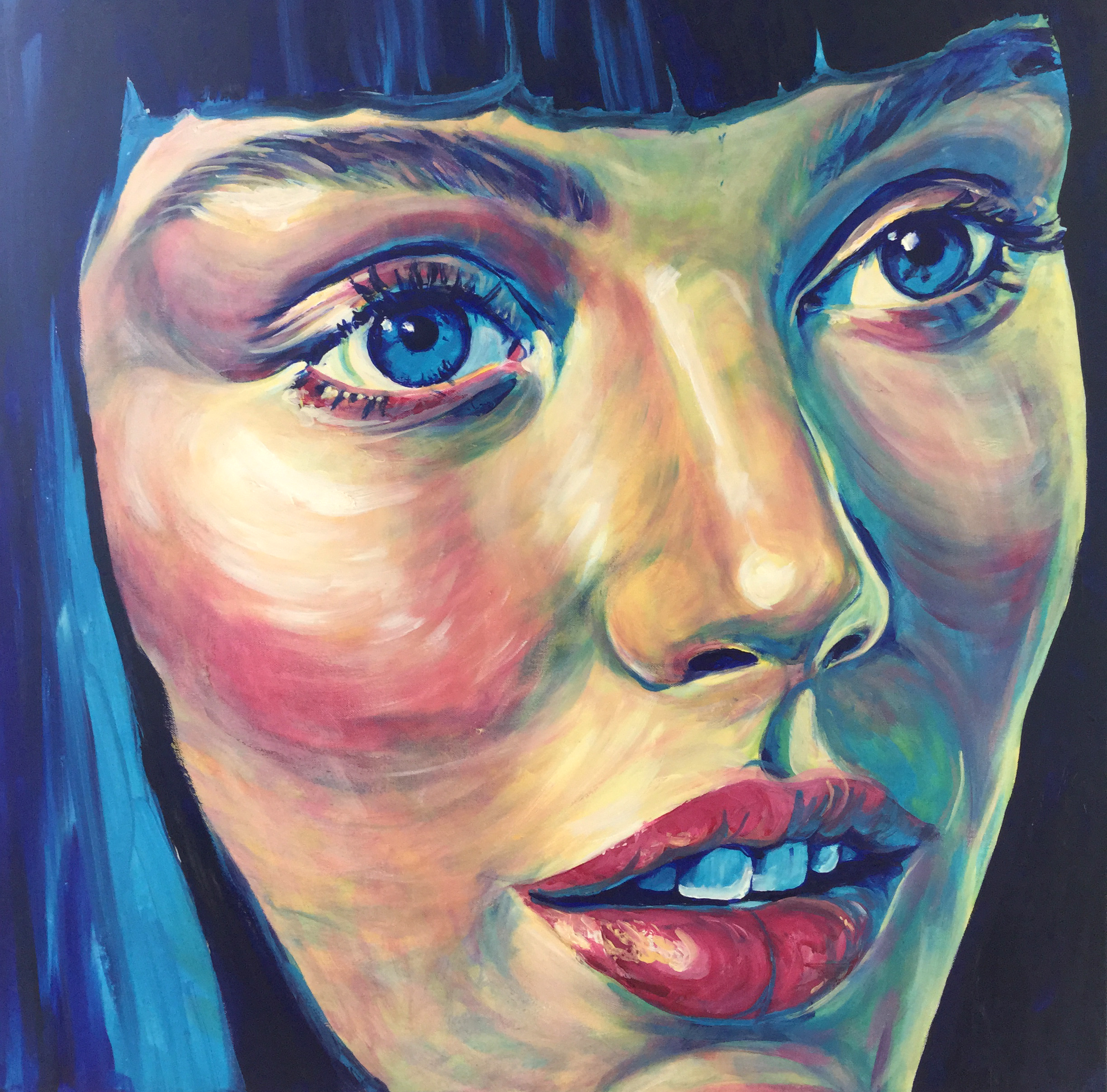 """ BANGS""  60 x 60 cm   - Oil on Canvas  *SOLD"