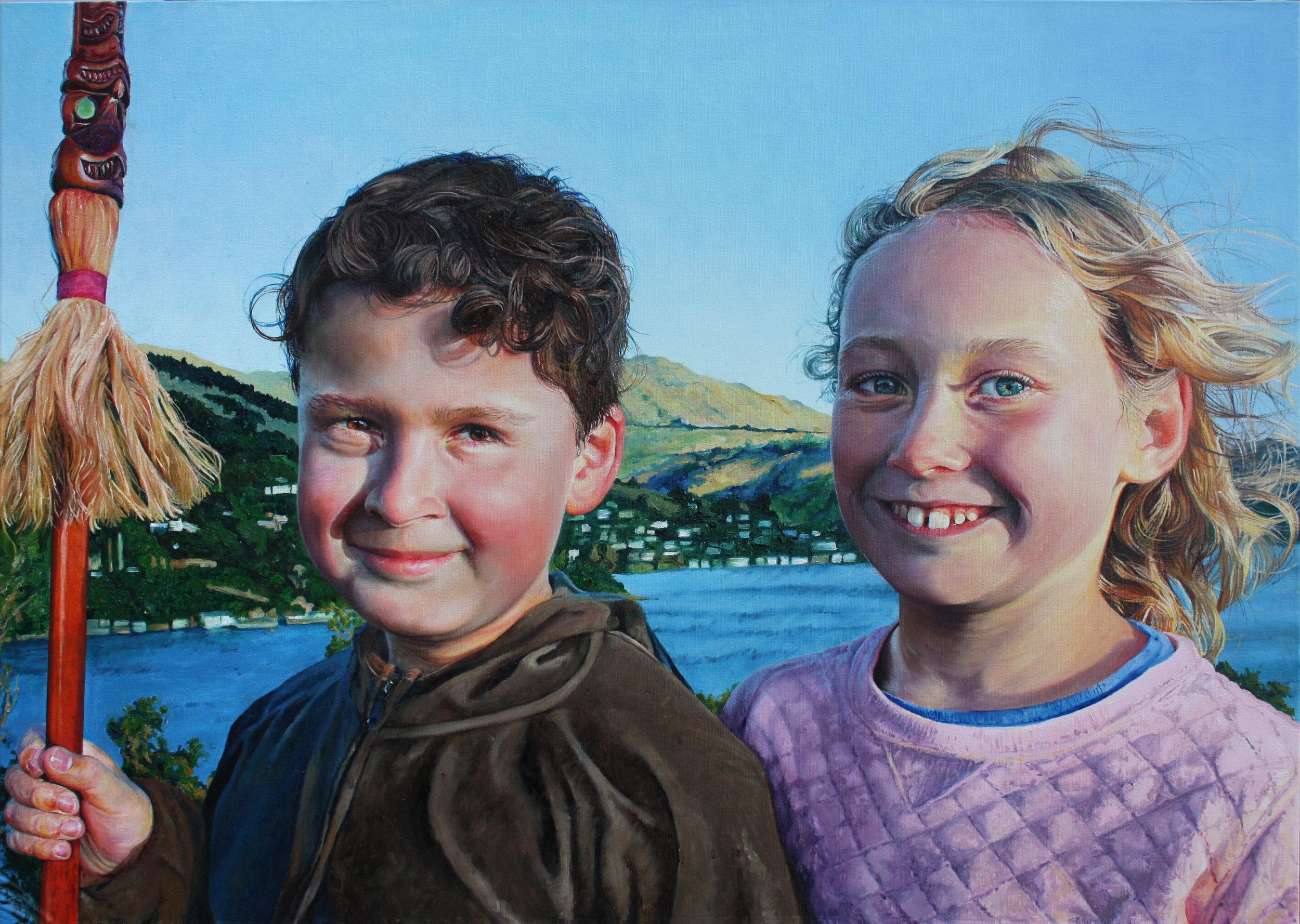'Our Future'   60 x 80cm- Oil on Canvas Finalist - Bridget Baldwin