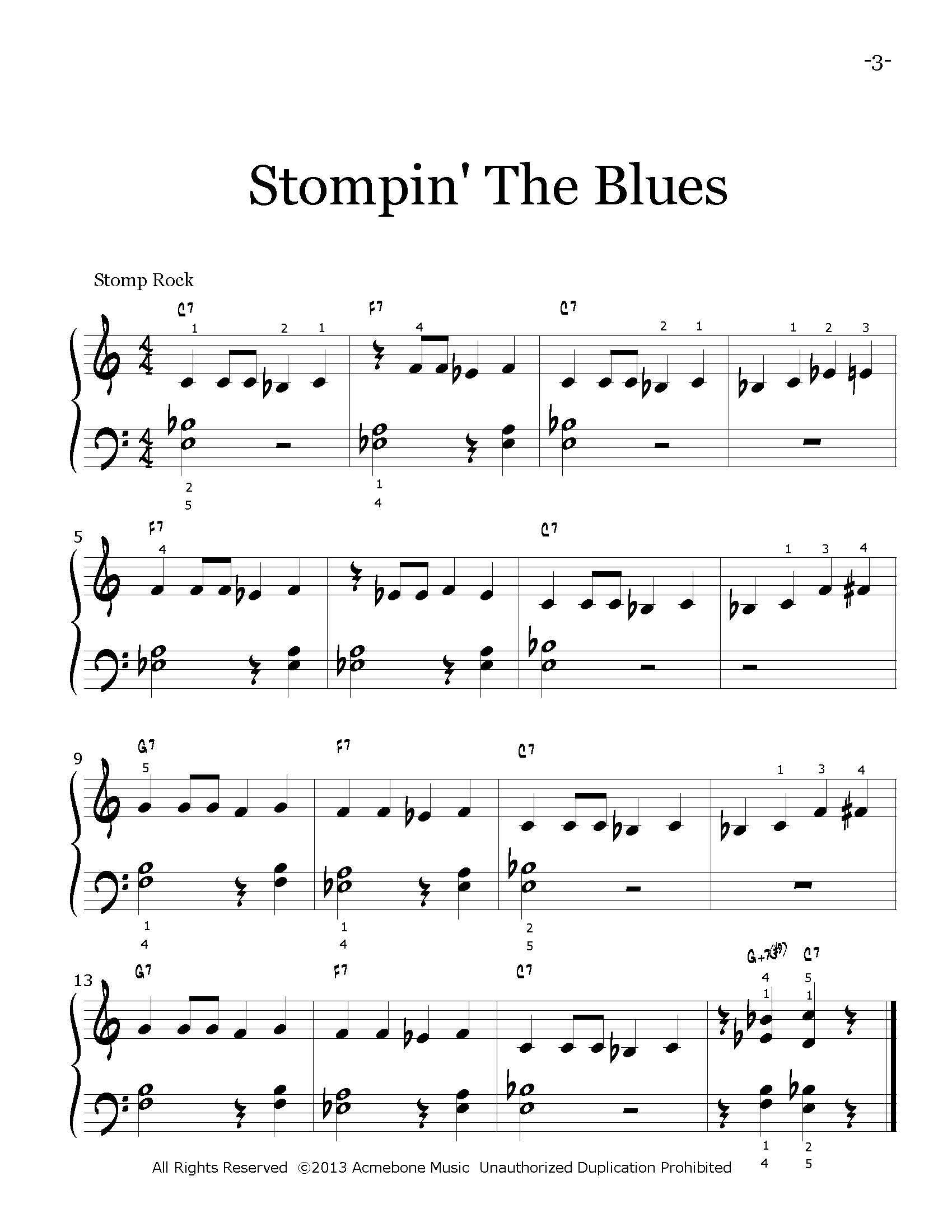 Stompin' The Blues