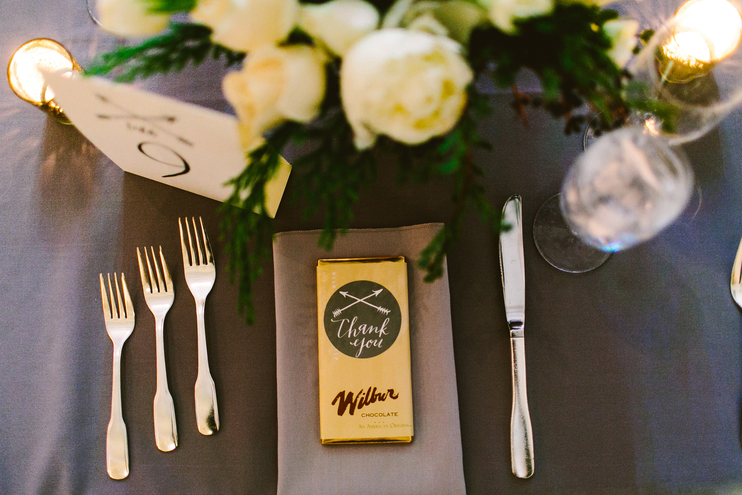 favor stickers calligraphy by hello, bird. // photo by redfield photography