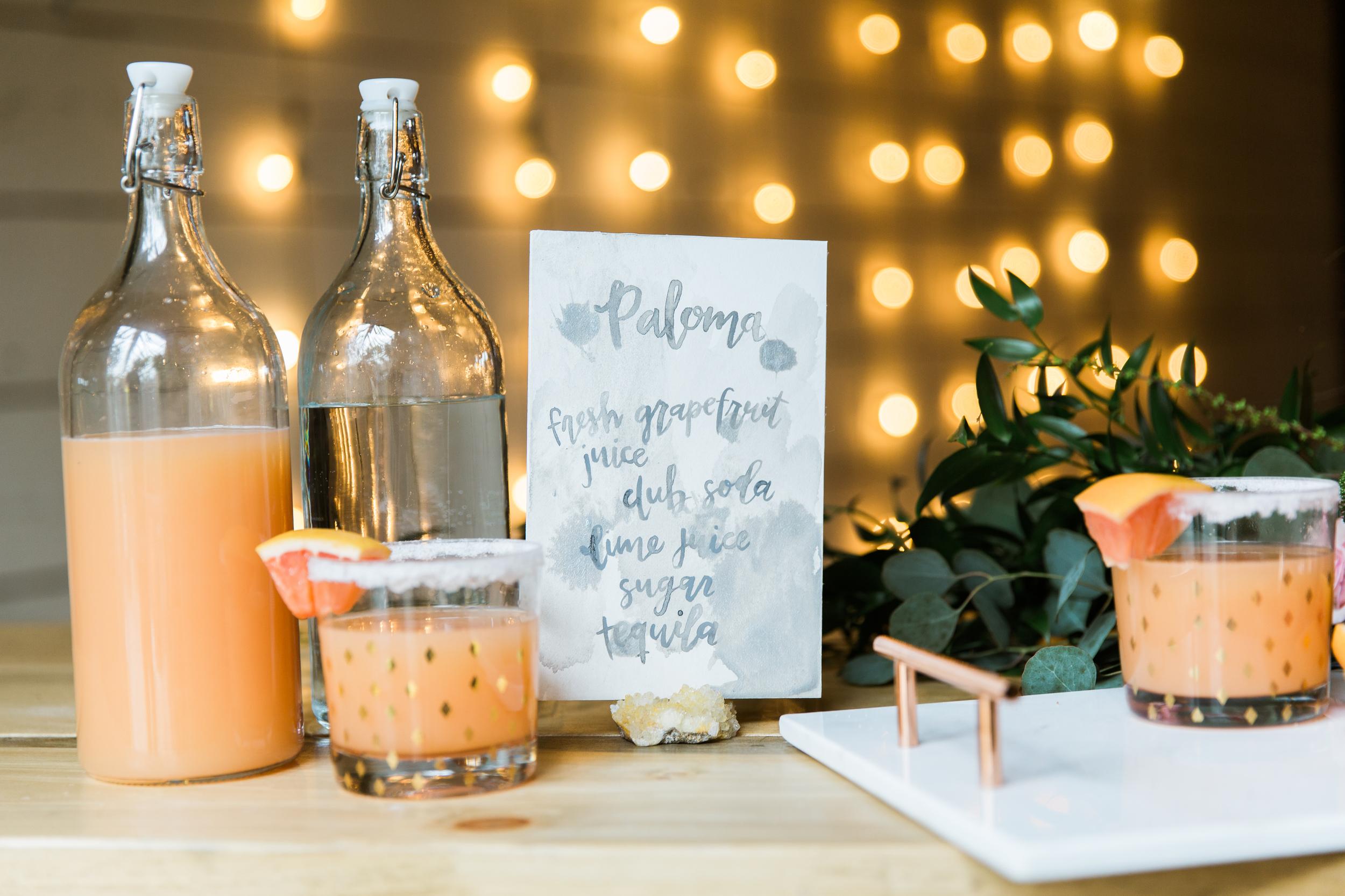 custom cocktail menu by hello, bird. // photo by emily wren photography