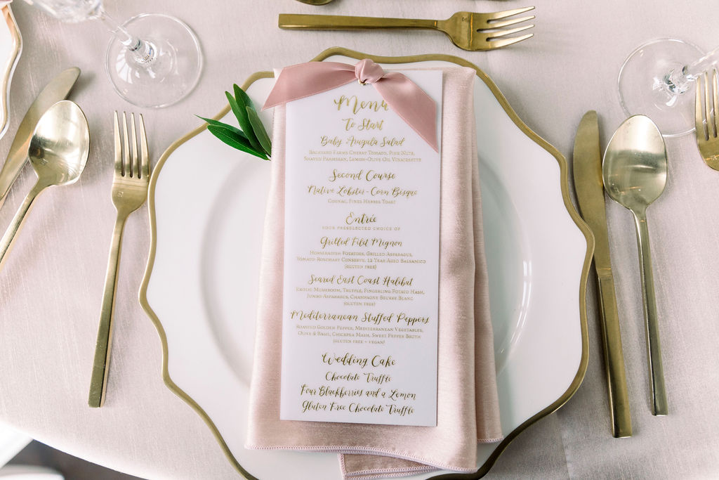 menu by hello, bird. // photo courtesy of carly michelle photography
