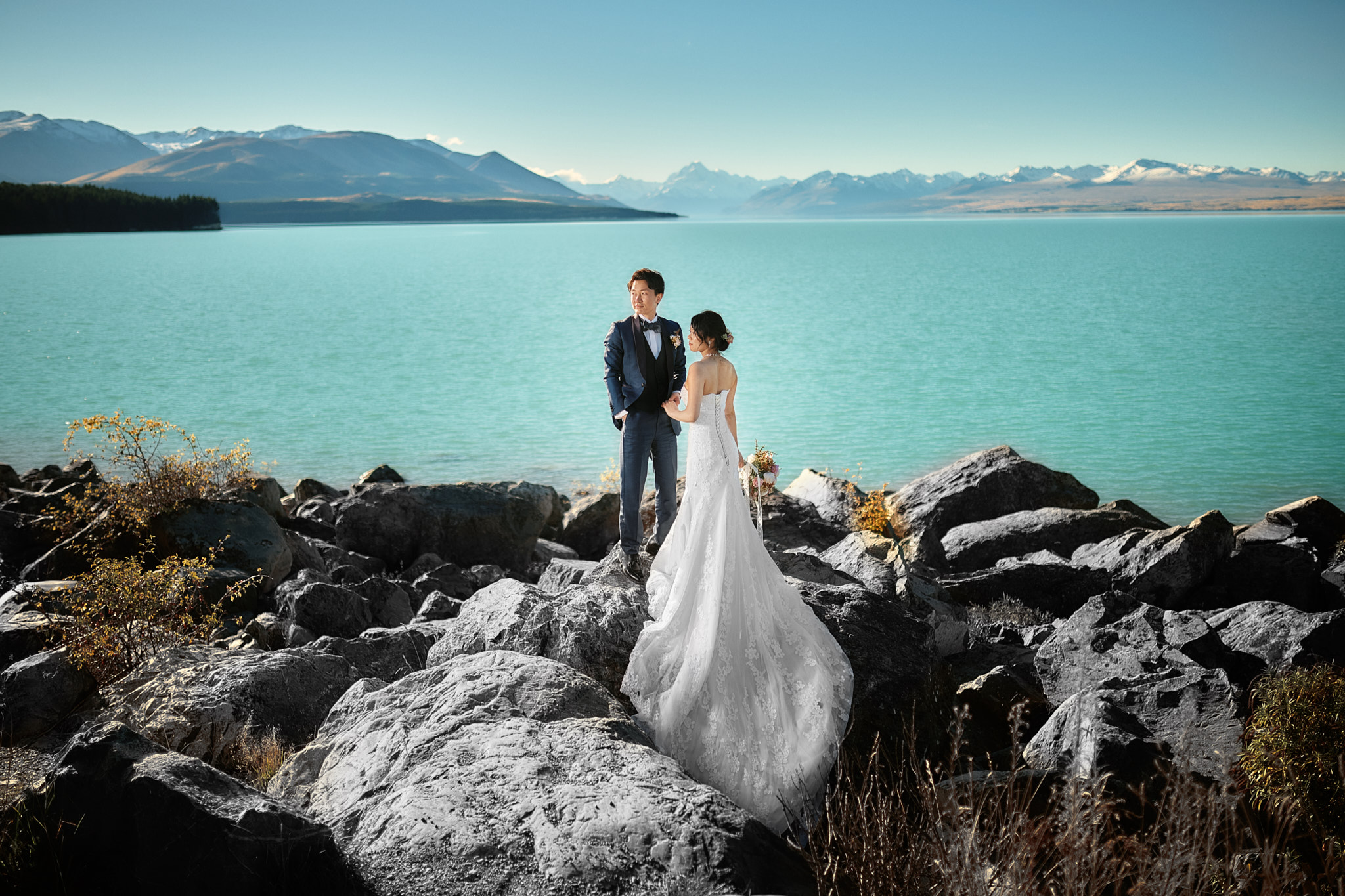 ニュージーランド クイーンズタウン テカポ ウェディング 前撮り フォト
