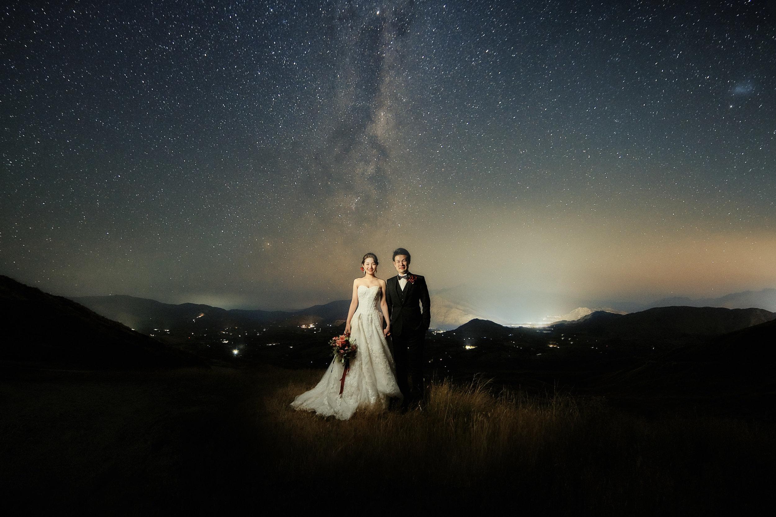 テカポ湖 クイーンズタウン ニュージーランド 天の川 星空 ウェディング 前撮り フォト