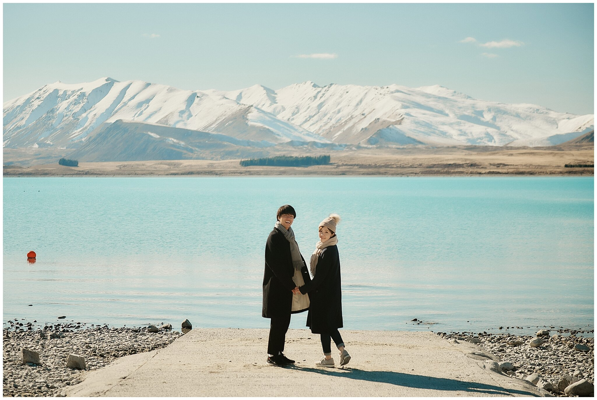 Lake Tekapo New Zealand Wedding Engagement Shoot