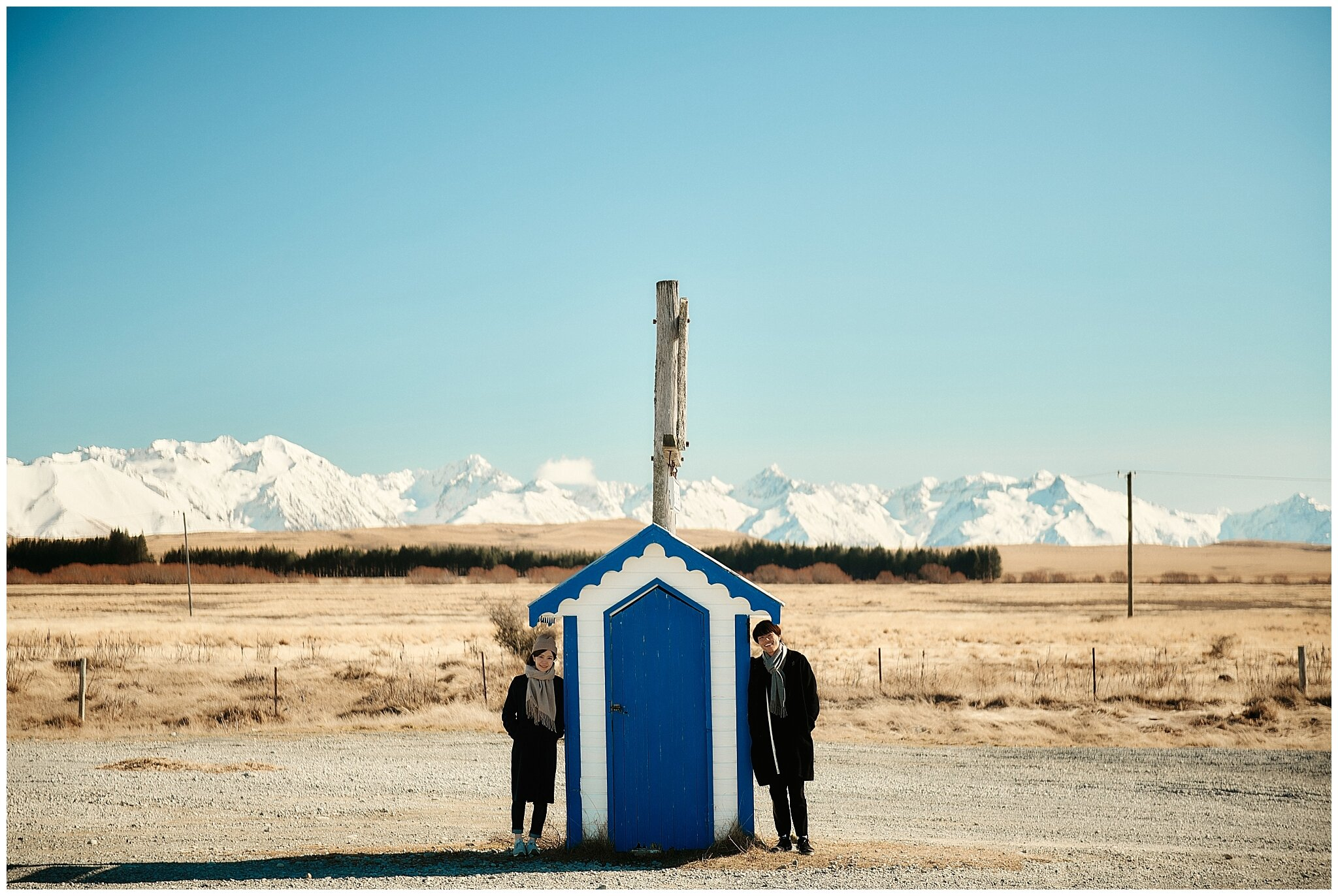 Lake Pukaki New Zealand Wedding Engagement Shoot
