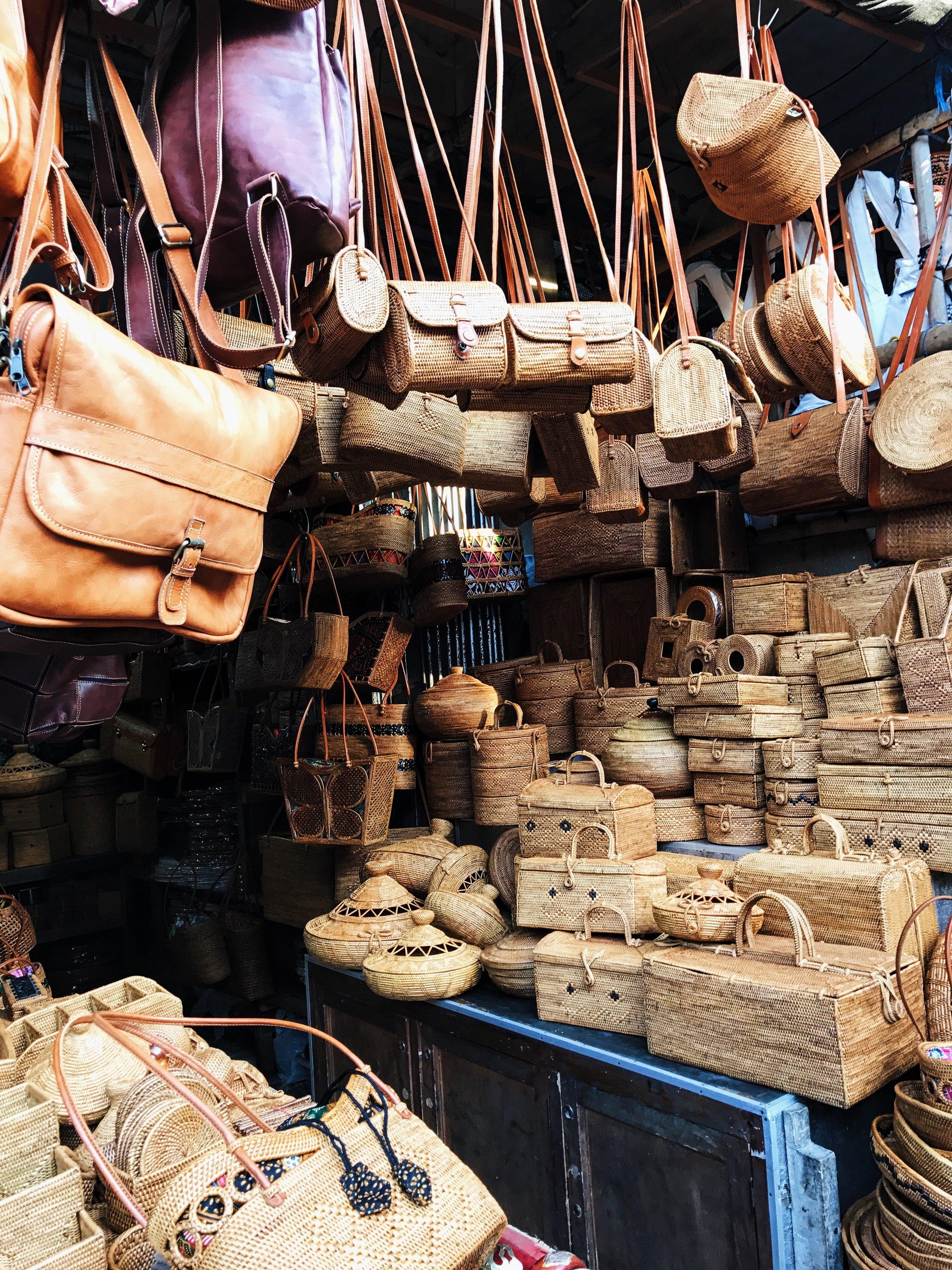 Ubud Market Bali Handbags Handmade Goods