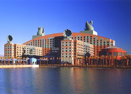 Interior color and pattern designs, Disney Swan and Dolphin hotels, Michael Graves architect