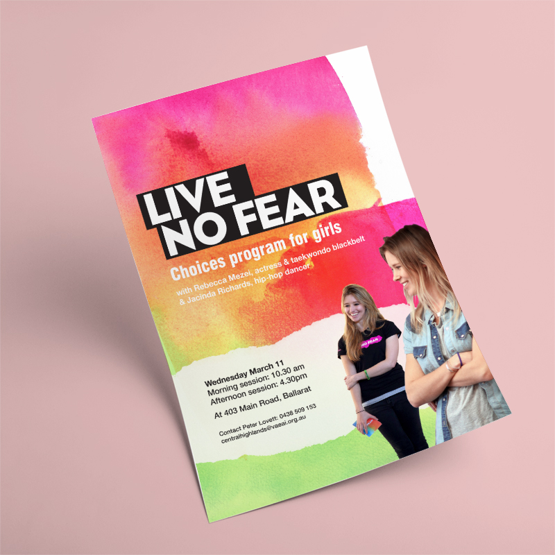 Choices & Live No Fear   Program collateral and promo videos for anti- violence program