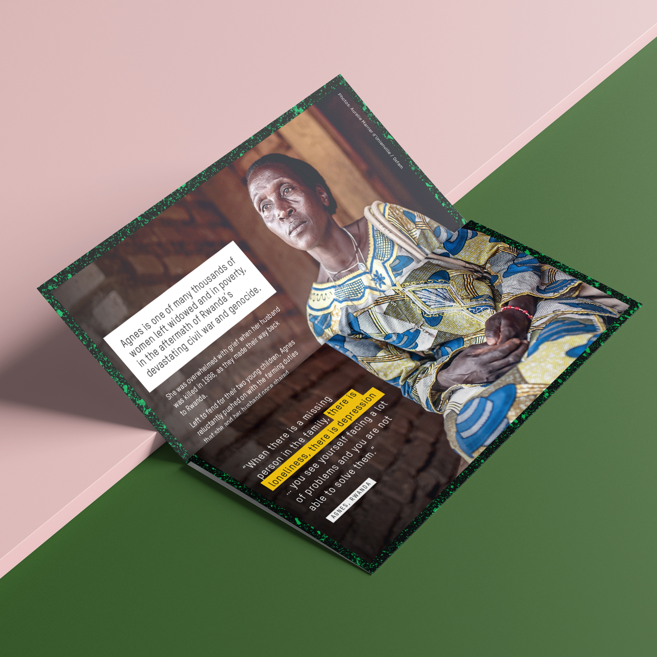 Oxfam Appeals   Direct mail collateral for fundraising appeal packs