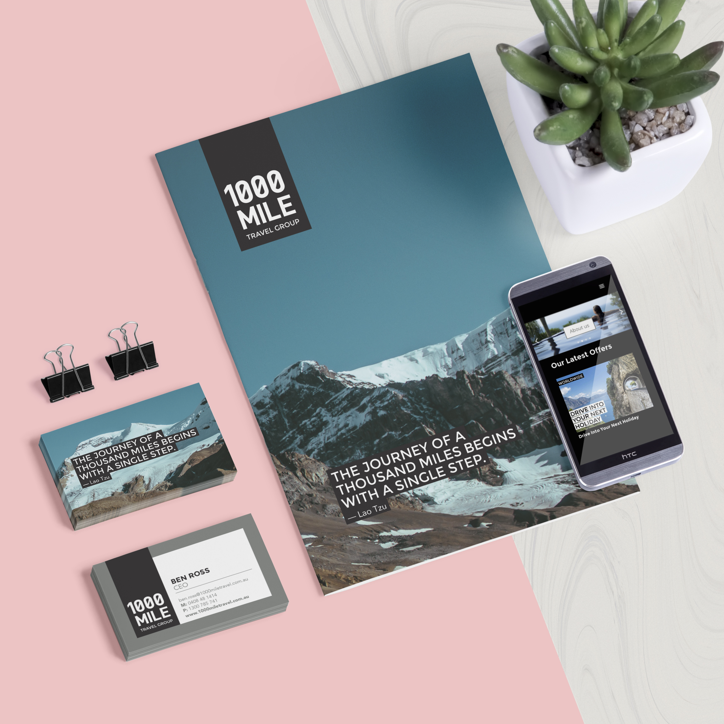 1000 Mile Travel Group   Branding and website