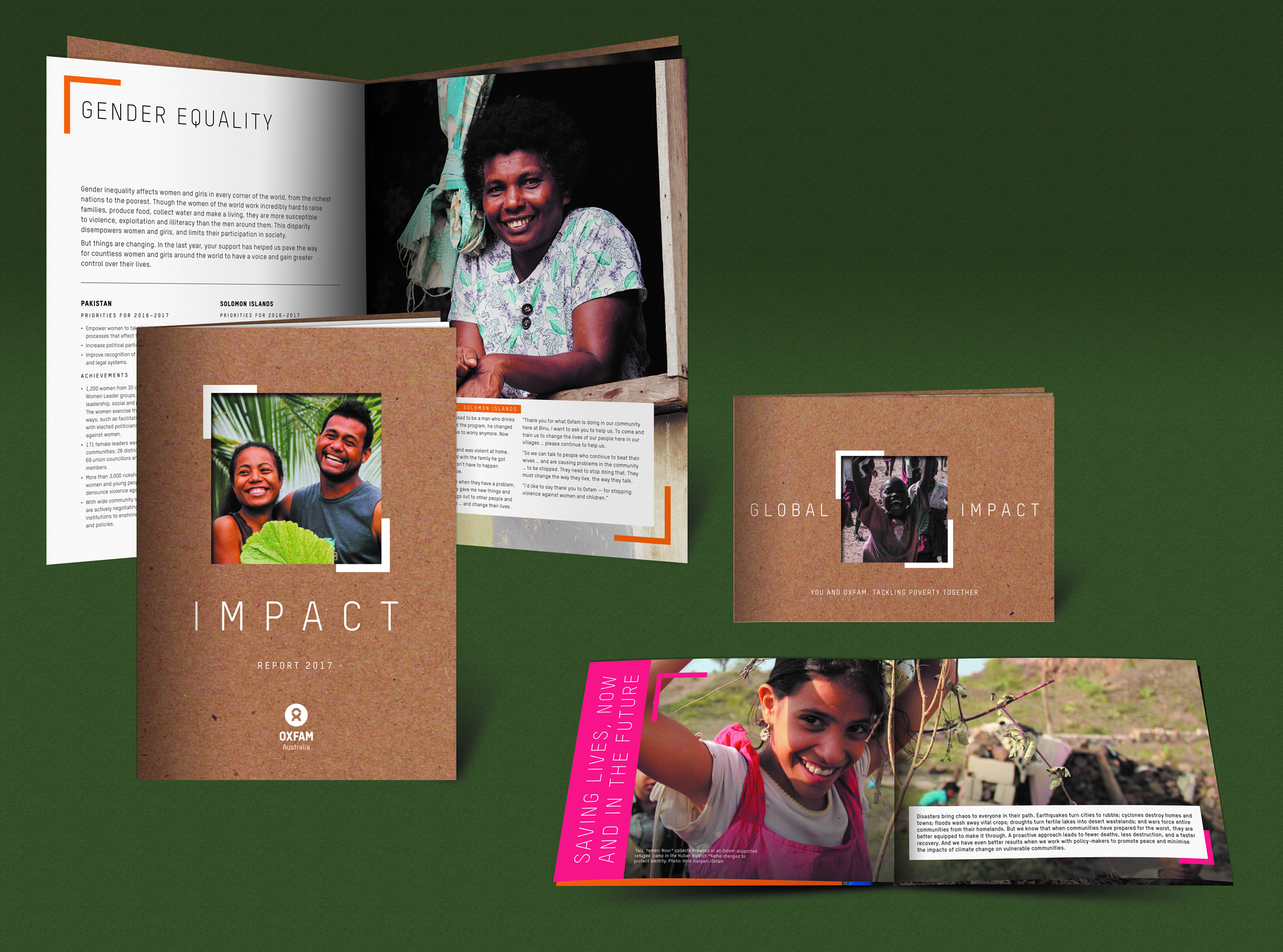 Oxfam Australia Global Impact report and booklet