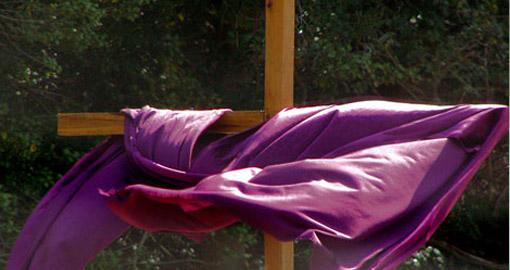 cross with purple