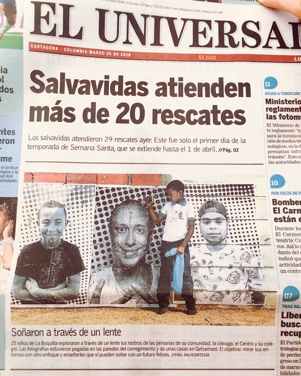 100cameras x Inside Out Collaboration featured on front page of El Universal. See article  HERE .