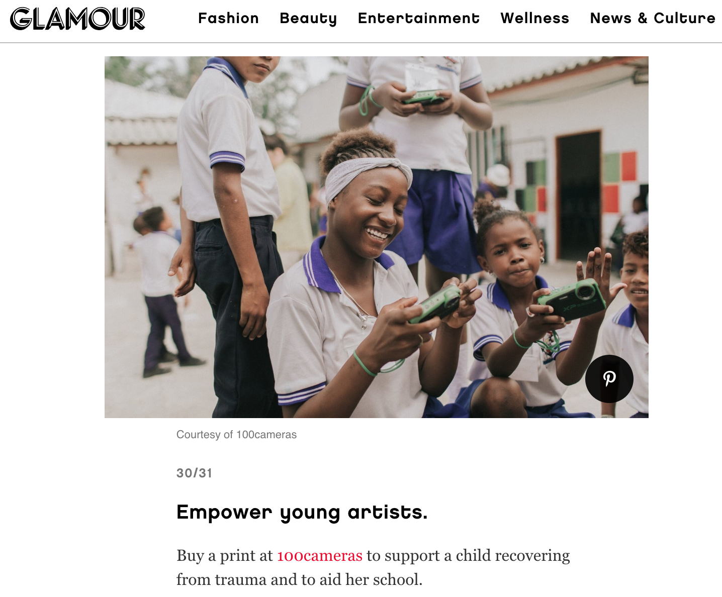GLAMOUR - We are featured in Glamour Magazine for their