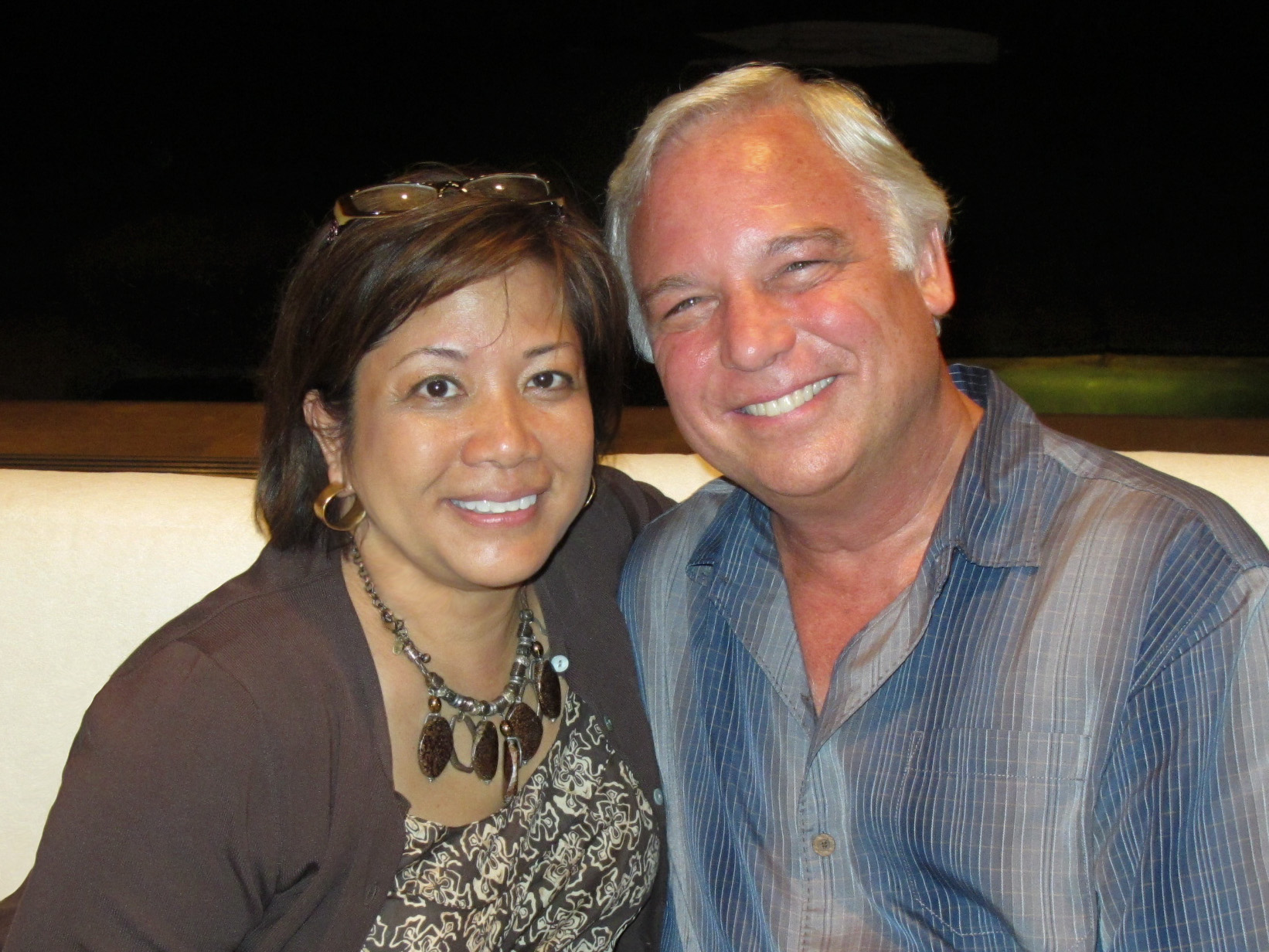 Discussing my book with Jack Canfield, Maui, 2010.