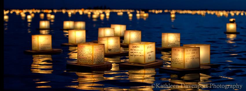 Lantern Floating Ceremony, Oahu, Hawaii