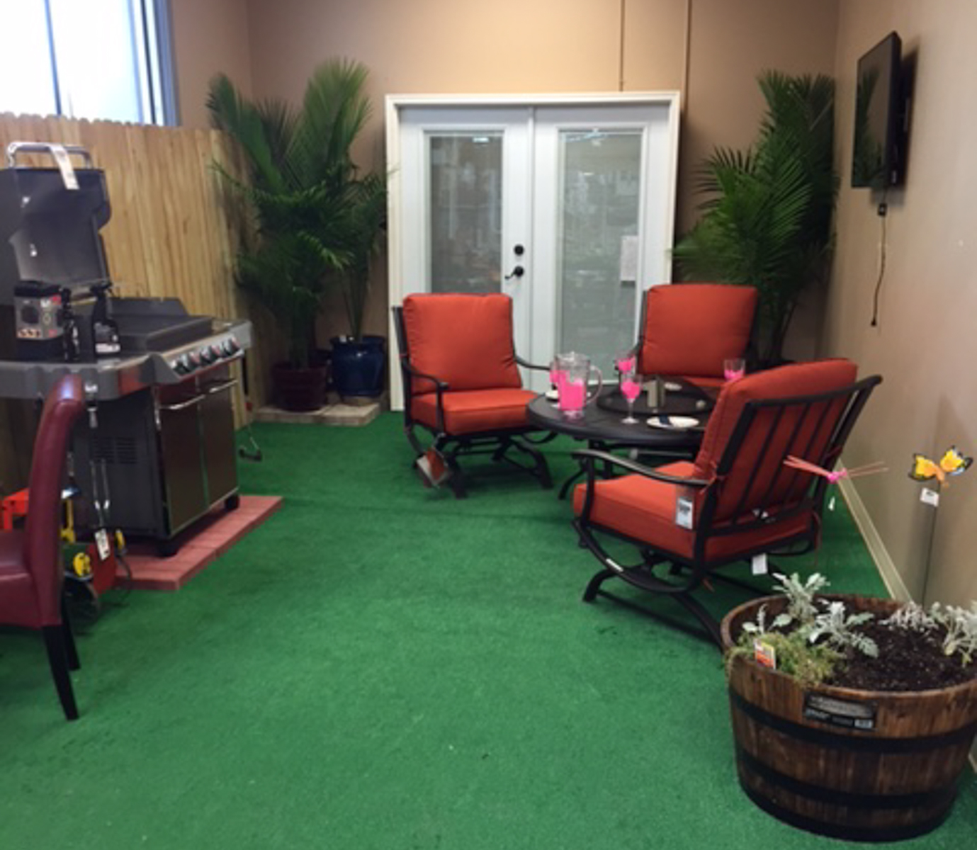 A very inviting lounge area at Home Depot.