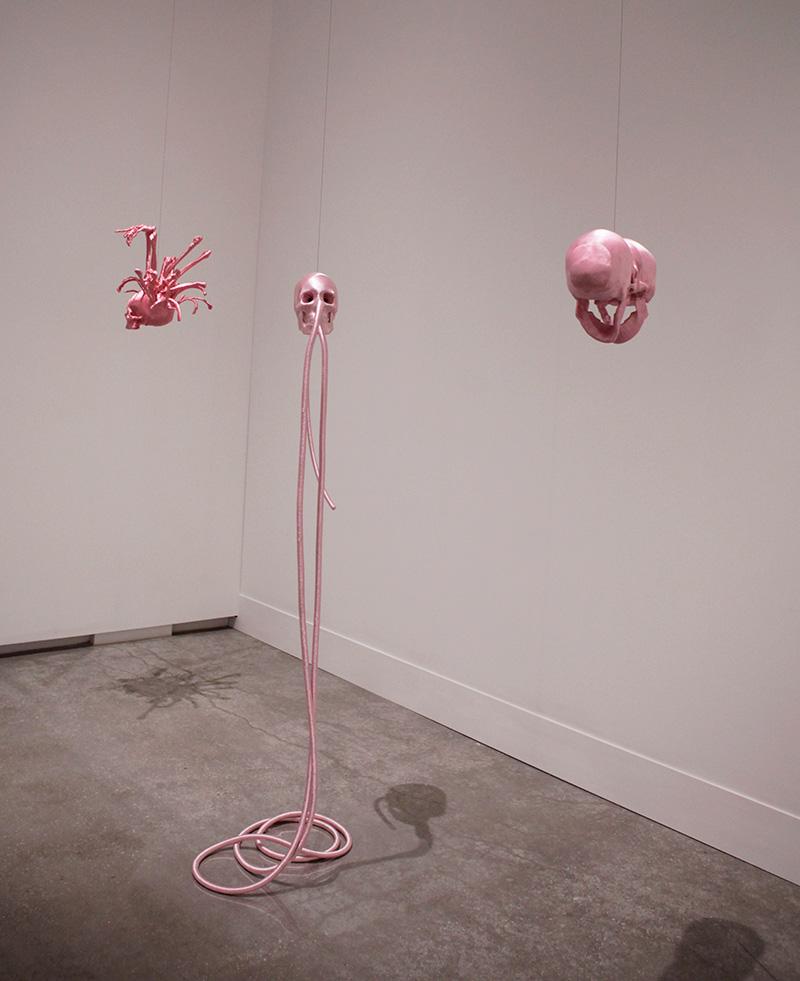 Lin Tianmiao,  Reaction,  2013 (install detail) Photograph: Maura Edmond