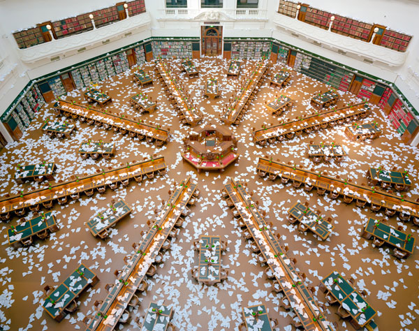 Ross Coulter,  10,000 Paper Planes - Aftermath (3) , 2011