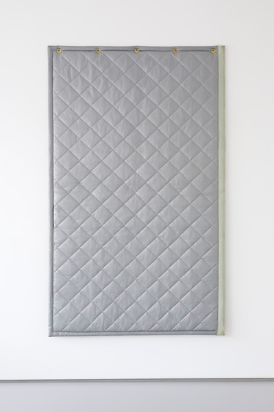 Greatest Hits,  Untitled (Acoustic Monochrome I) , 2014 Acoustic blanket, 1200 x 1800mm Courtesy the artists and Tristian Koenig
