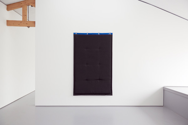Greatest Hits,  Untitled (Acoustic Monochrome II) , 2014 (install) Acoustic Blanket, 1200 x 1800mm Courtesy the artists and Tristian Koenig