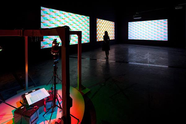 Taree Mackenzie, White Light Shadows:Circles, Squares, Triangles, 2013 (install) Courtesy the artist Photo: Andrew Curtis