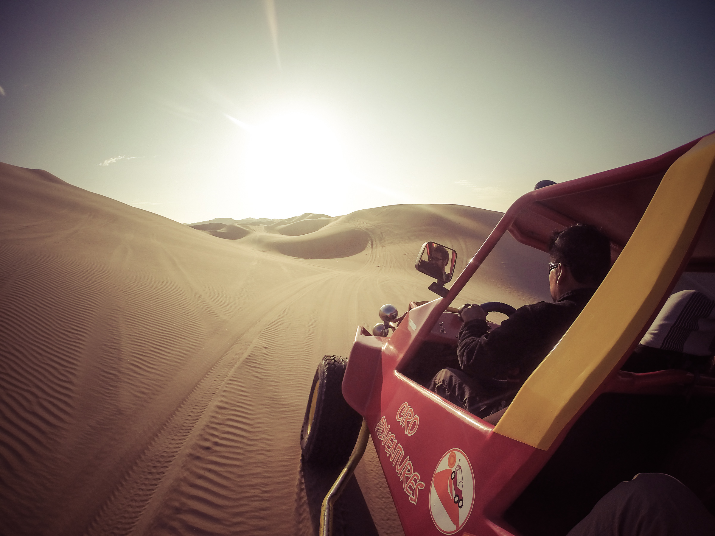 "Adventure picture!!! It has the word ""adventures"" in it! (Huacachina, Peru)"