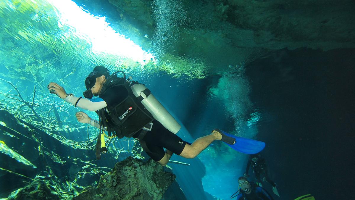 Cenote diving! (Picc/o Triton Productions)