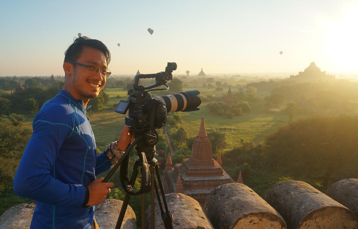 Shooting the sunrise in Bagan. Picc/o Capt. Joy Roa.