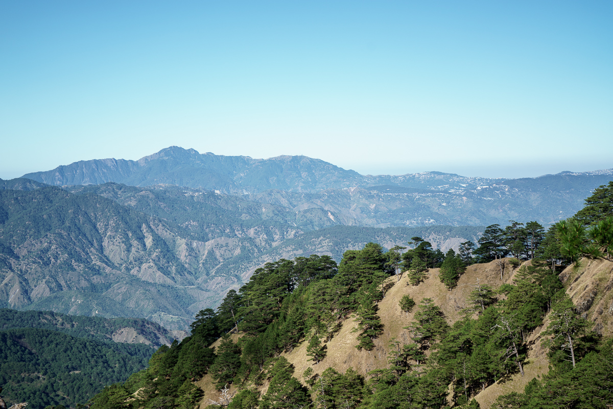 Baguio City in the distance