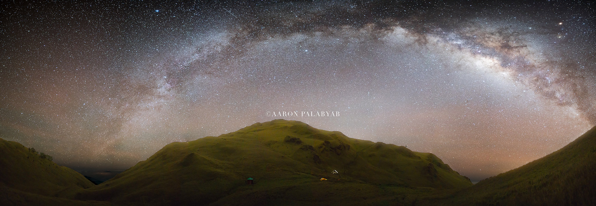 A full Milky Way galactic core over Mt. Pulag