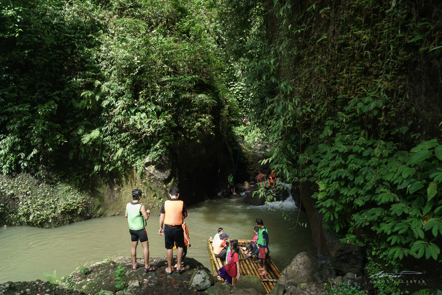 We get ready for another crossing as the canyon walls close in around the river