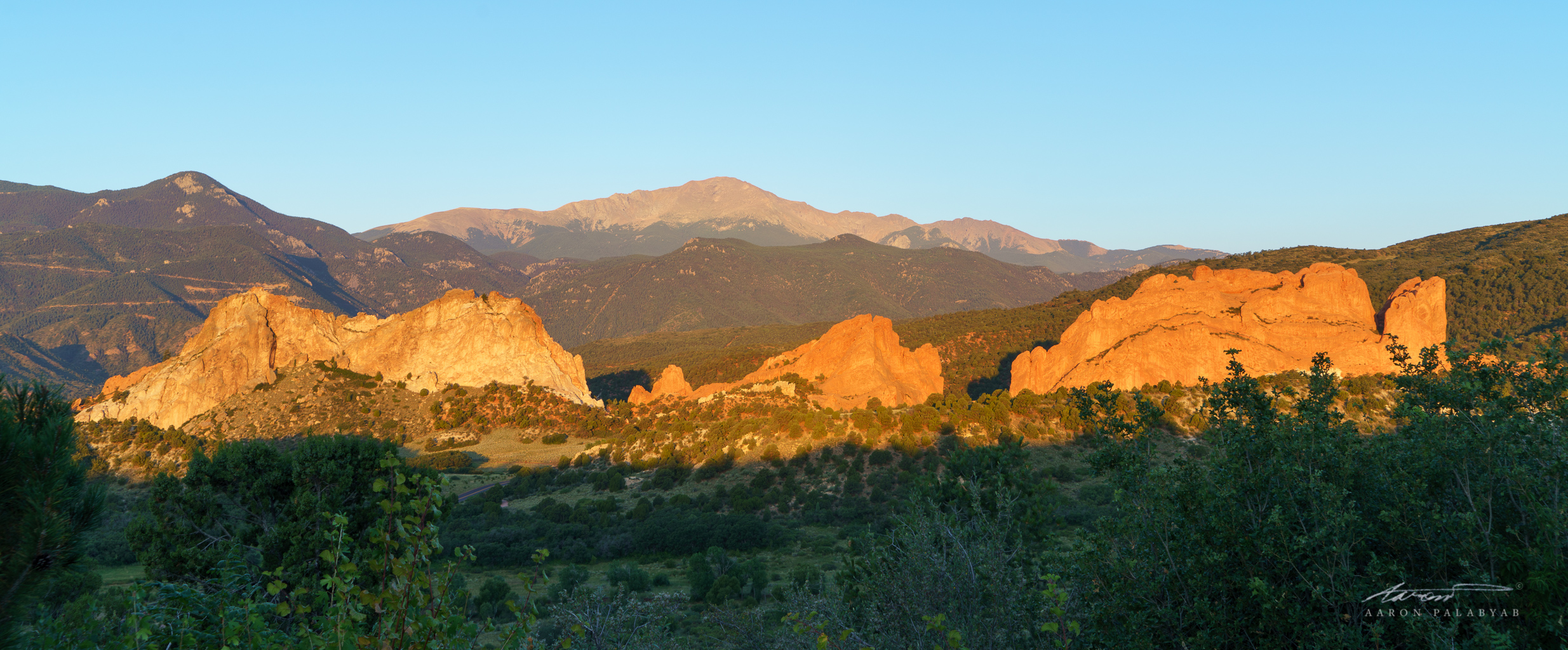 The morning light makes these monumental rocks in the shadow of Pike's Peak come alive
