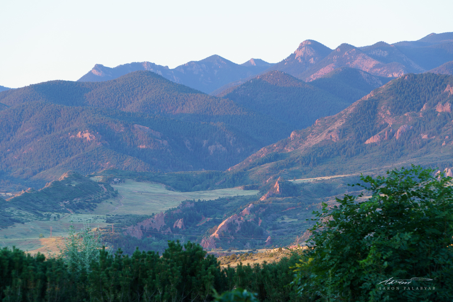The Rocky Mountains in the soft morning light