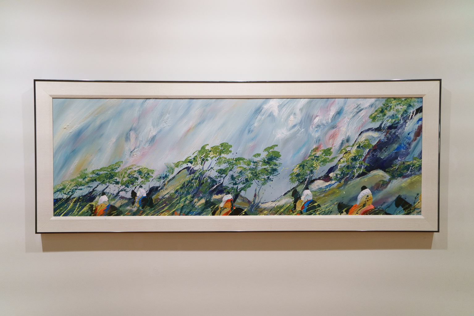 """""""Looking Back"""" (1982) by Earl Biss. Oil on canvas."""